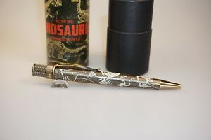 Retro-51-Limited-Edition-Tornado-Popper-Dinosauria-Rollerball-Pen-Only-965-Made