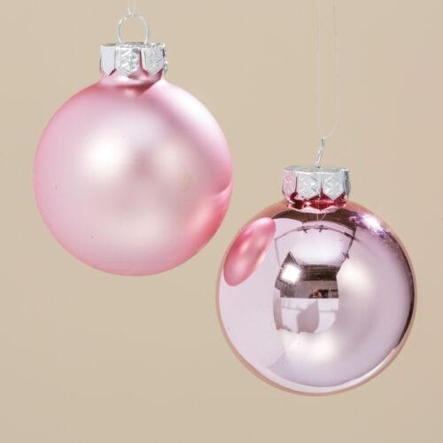 tailles boules de Noël Décorations Sphère Set Rose Rose verre laqué diff