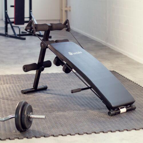 Banco de Musculación Abdominales Fitness Deporte Gimnasio Aparato Negro Nuevo