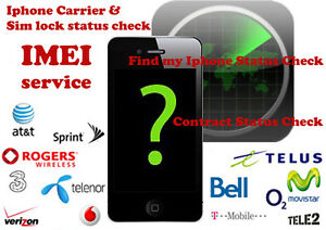Details about Fast iPhone IMEI checker Network & Carrier Check Sim lock  status Find my iPhone