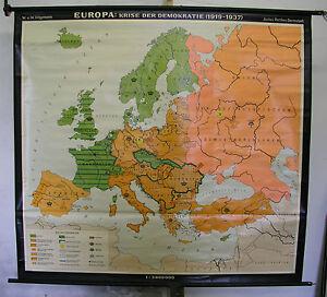 Cartina Europa 1860.Dettagli Su Poster Per Pareti Scolastiche Bella Vecchio Cartina Europa Crisi 1919 1937