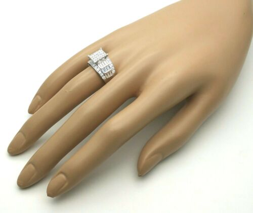 Women/'s Ladies Genuine Solid 925 Sterling Silver Cubic Promise Engagement Ring
