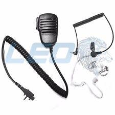 Speaker Mic + 3.5mm Earpiece + 2 Clear Earmolds for Vertex VX231 VX261 VX454