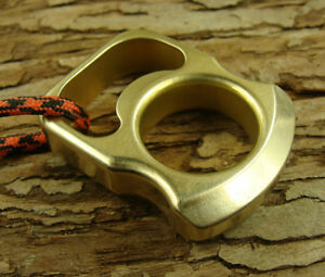 Solid Brass Survival Escape Tool Outdoor EDC Key Pendant With Brass Lanyard Bead