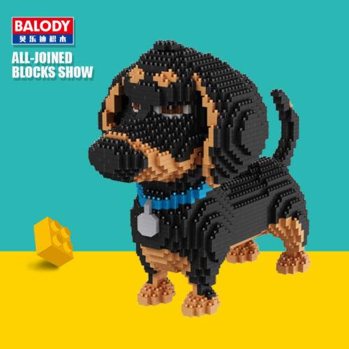 Balody 2100pcs Buddy Dachshund Dog Animal DIY Diamond Mini Building Nano Blocks