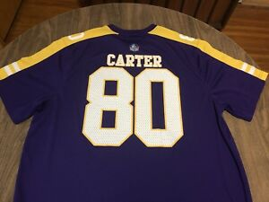 quality design 5caa2 27957 Details about Cris Carter Minnesota Vikings NFL Football Hall Of Fame 2XL  Polyester Jersey