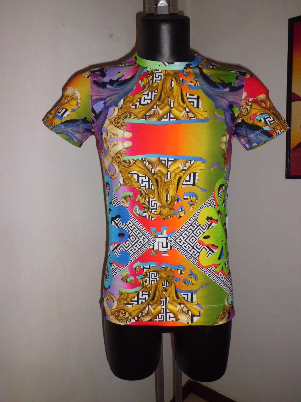 Versace Versus  Rare T-Shirt  Print Multicolor Größe M