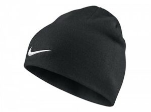 8f2ebf14050 Image is loading Nike-Team-Performance-Beanie-Black-Hat-White-Tick-