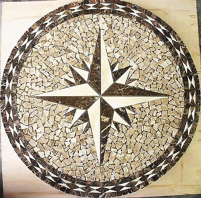 "Floor 32"" Marble Travertine Tile Medallion Design Stone 32"" #11"