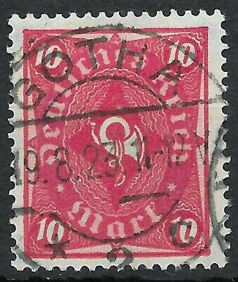 1919-1923 Posthorn Minr Deutsches Reich 206 Gestempelt In Gotha Am 19.8.23 Starker Widerstand Gegen Hitze Und Starkes Tragen