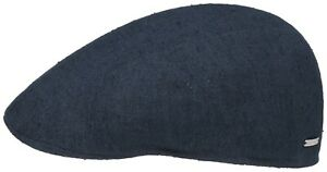 14ea88208817b Stetson Flatcap Cap Ivy Cap Madison Canvas Silk 2 Dark Blue Trend ...