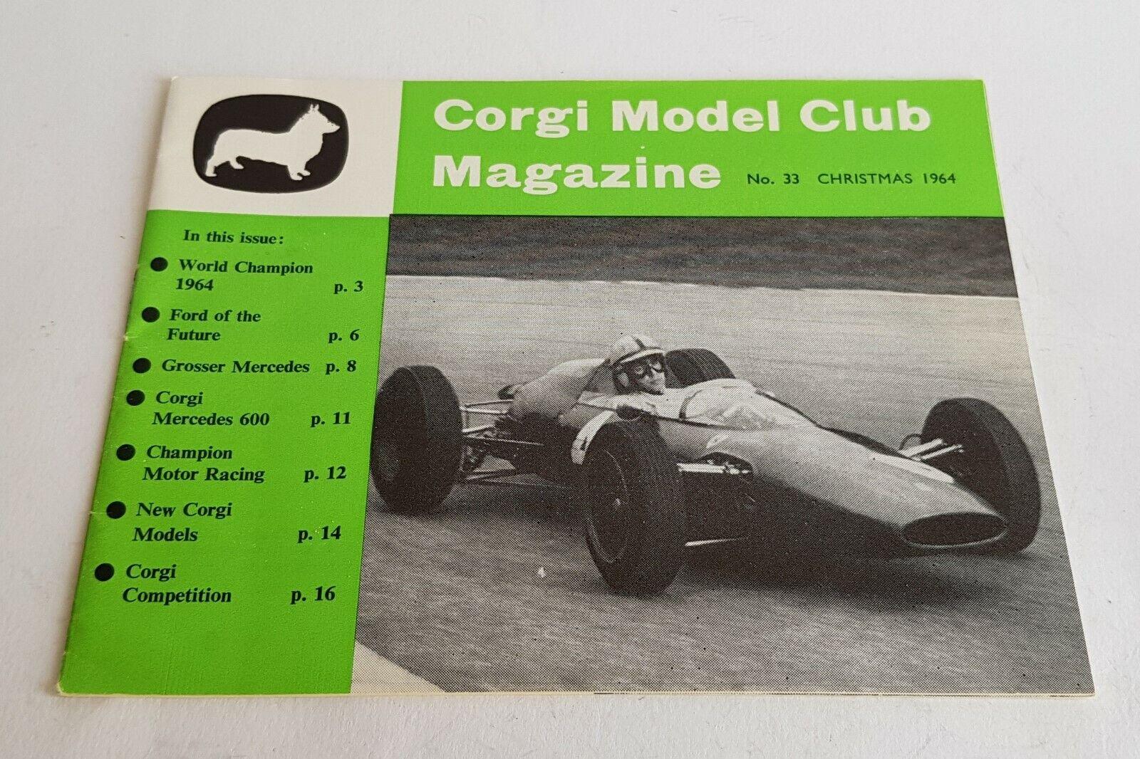 Original Corgi Club Magazine No. 33, Christmas Christmas Christmas 1964, - Superb Pristine Mint. 74c69d