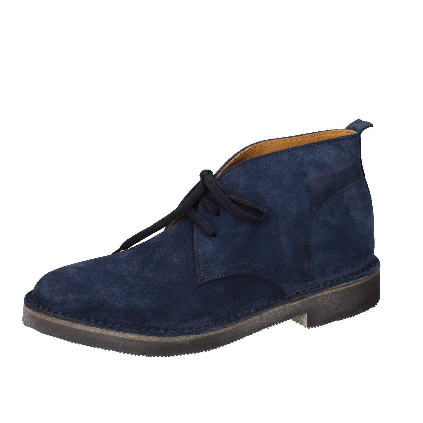 Herren schuhe MOMA 44 EU desert boots blau wildleder AB327-44