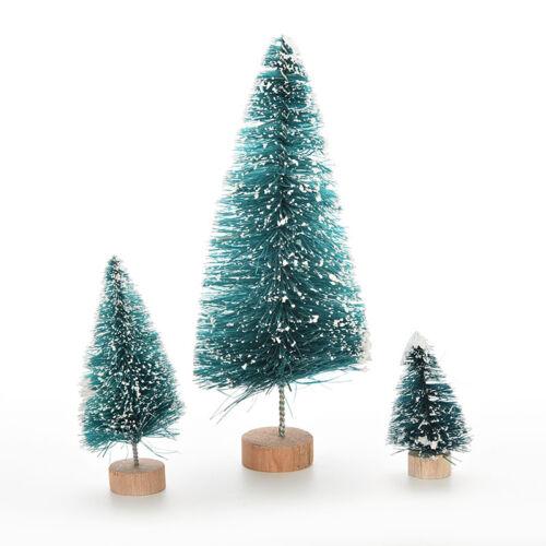 1 X Christmas Winter Tree Mini Cedar Ornaments Party Dolls House Miniatur HBBDA