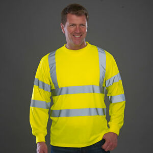 Yoko-Hi-Vis-Long-Sleeve-Tee-Shirt-High-Visibility-Top-T-Shirt-Men-039-s-Viz-HVJ420