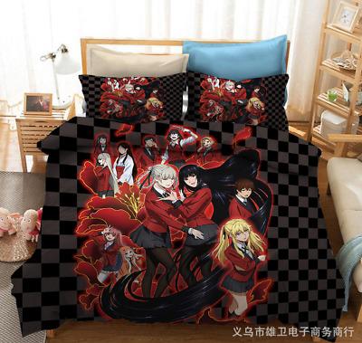 Compulsive Gambler 3D Bedding Set Duvet Quilt Cover Pillowcase E Kakegurui
