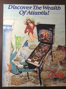 Atlantis Pinball Machine Flyer