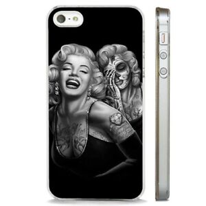 Dettagli su MARILYN MONROE TATTOO Candy Teschio Chiaro Telefono Custodia Cover si adatta iPhone 5 6 7 8 X- mostra il titolo originale