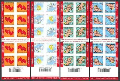 Briefmarken 252457 Belgien Markenhefte Nr.3449-3453** Grußmarken Einfach Zu Schmieren