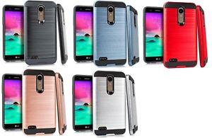 official photos f18e3 8f94c Details about Metallic Case Cover for LG Premier Pro 4G LM L413DL L413DG  LML414DL / Harmony 2