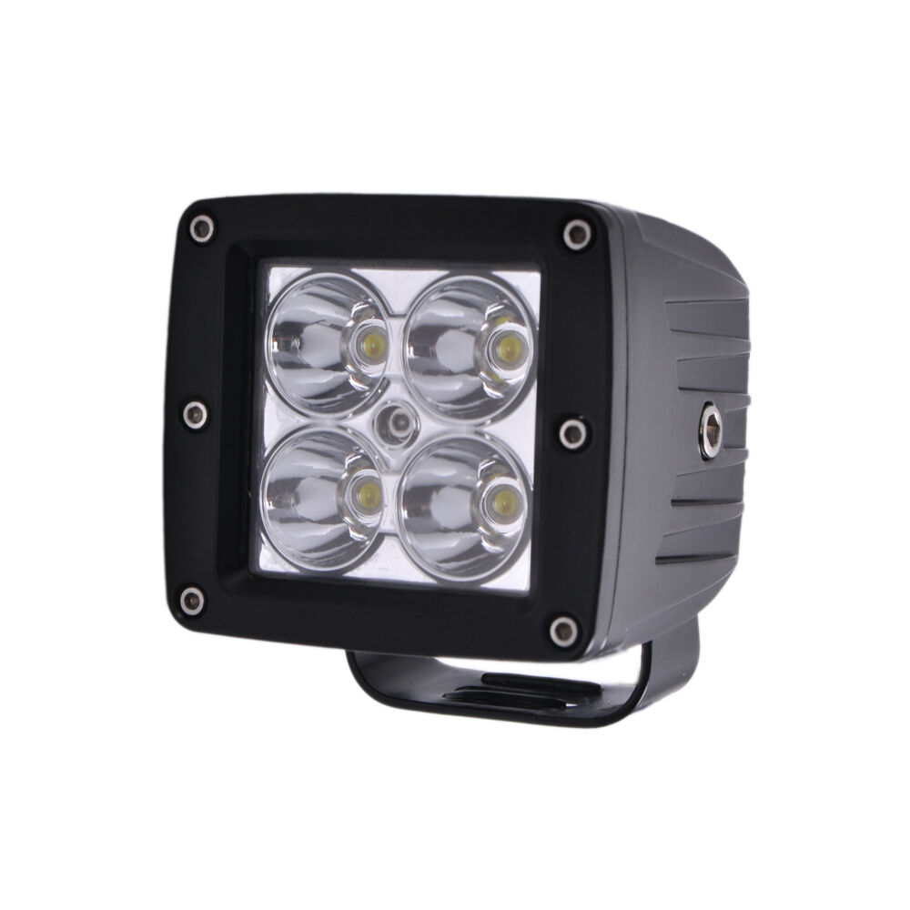 "Set 3/"" 24W LED Work Light Cube Pods Offroad Spot White/&Amber/&Strobeflash Remote"