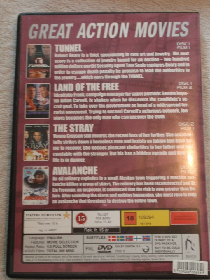 4 Great Action Movies , DVD, action