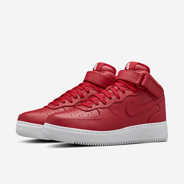 2016 Force NikeLab Air Force 2016 1 Mid SP SZ 9.5 Gym Red White Lux Premium Nike 819677-600 26158c
