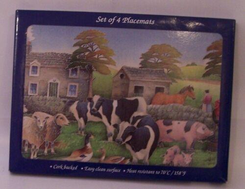 Farmyard design Placemats set of 4