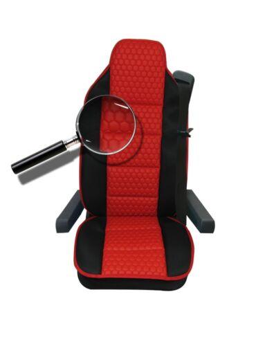Sitzauflage LKW-Sitz Sitzkissen Rot-Schwarz Volvo FH 13,FH460,FL240,FL12