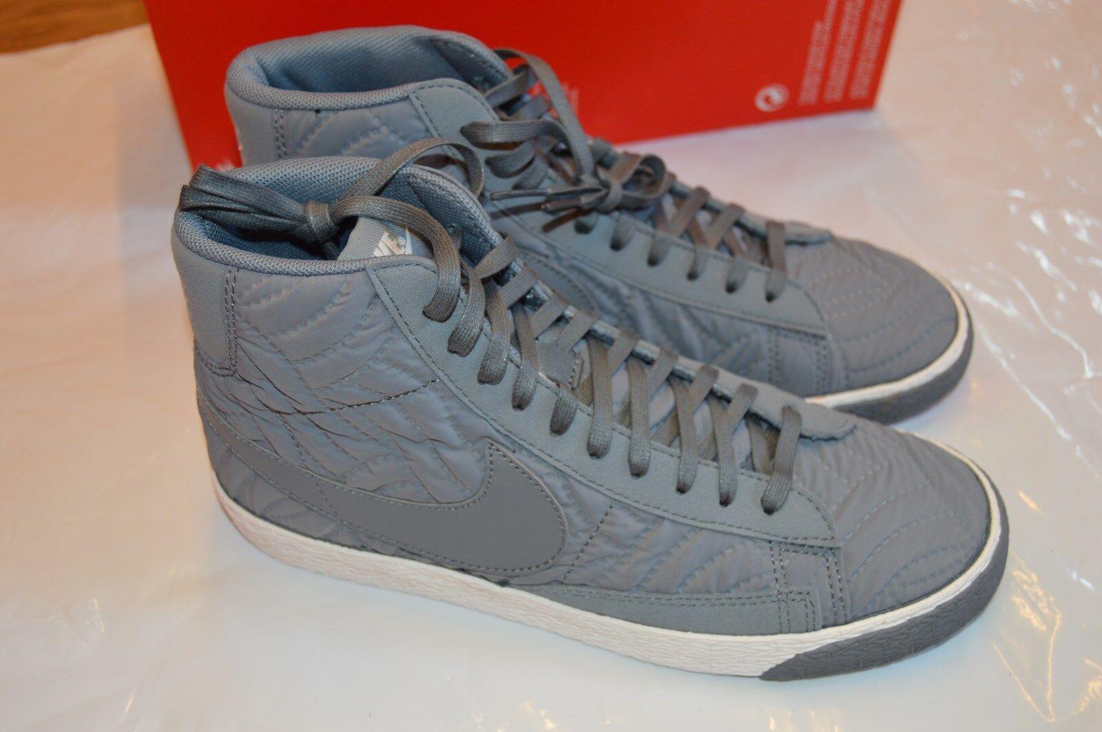 bnib Damens's Nike Blazer Mid PRM SE Grau/WEISS traines Größe UK 4 EUR 37.5