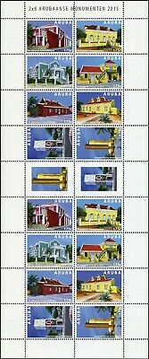 Niederlande & Kolonien Offen Aruba 2015 Baudenkmäler Monumente Architektur Monumenten 901-908 Kleinbogen Mnh Briefmarken