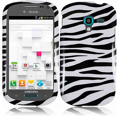 For T-Mobile Samsung Galaxy Exhibit T599 HARD Case Snap On Phone Cover Zebra