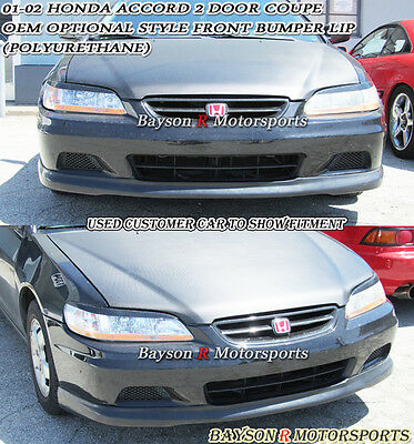 Urethane OE Style Rear Bumper Lip OE Style Front Fit 01-02 Accord 2dr