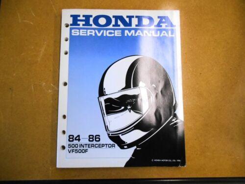 Honda Factory Service Shop Repair Manual lVF500F VF 500 FInterceptor