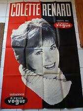 Grande affiche Colette Renard // disques Vogue