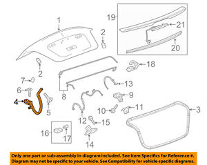 Chevrolet GM OEM 16-18 Cruze Trunk Lid-Hinge Right 23386580