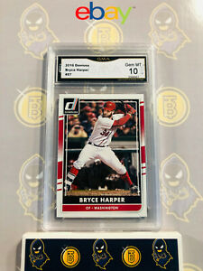 2016-Donruss-Bryce-Harper-57-10-GEM-MINT-GMA-Graded-Baseball-Card