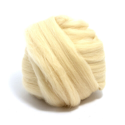 100g DYED MERINO WOOL TOP SANDSTONE BLONDE DREADS 64/'s SPINNING FELTING ROVING