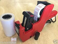 Mx 5500 8 Digits Price Tag Gun Labeler 2000 White Blank Labels 1 Ink