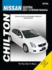 Nissan Sentra Repair Manual 2007-2012 by Chilton #52702