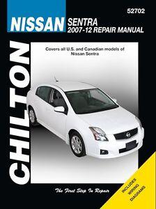 nissan sentra repair manual 2007 2012 by chilton 52702 ebay rh ebay com 2008 Nissan Sentra 2011 nissan sentra service manual