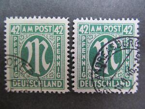Bizone n. 31b+31c, 1945, timbrato, mer 17 €, BPP esaminato * ST 255 *