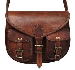 Women-039-s-New-Handmade-High-Quality-Goat-Leather-Vintage-Messenger-Bag-Purse-Tote