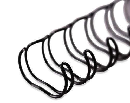 Ringbindung; Binderinge Drahtbinderücken; 2:1 Metallringe; 31,8 mm; 50 Stück