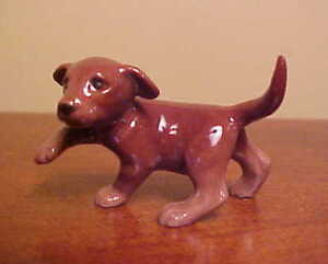 Hagen Renaker Chocolate Lab Labrador Puppy Dog