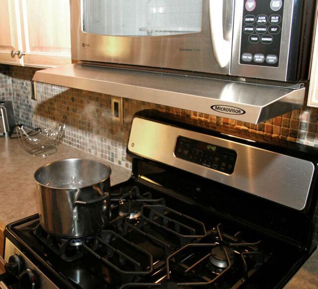 Microvisorhood Mini Hood Extension For Microwave Over The Range Stainless Steel For Sale Online Ebay