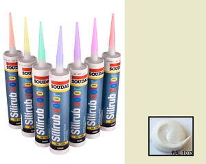GELSOMINO-silicone-mastice-resina-SIGILLANTE-RAL1013-come-crema-Vaniglia