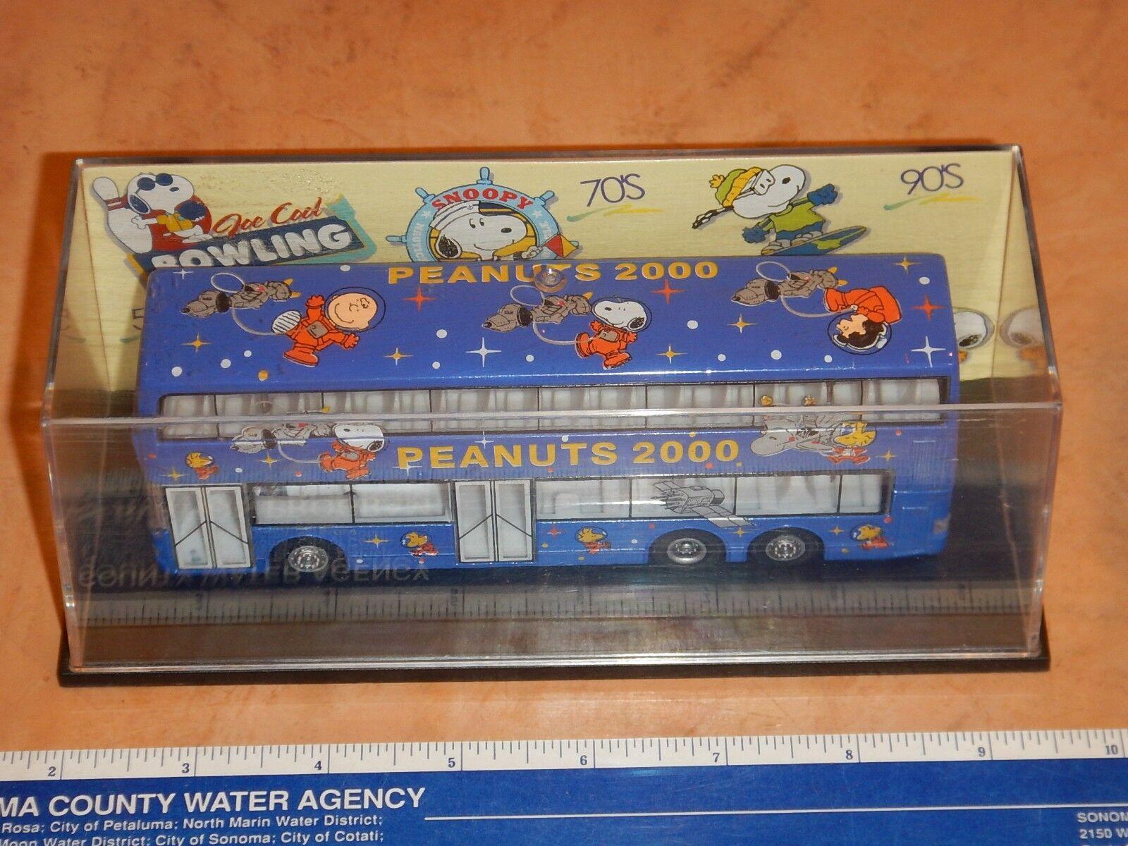 RARE VINTAGE SUN HING TOYS DIECAST PEANUTS JUMBO BUS - - - blueE, 1 76 SCALE, NOS 5058e1