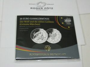 Silver-2020-Der-Wolf-And-Die-7-Little-Goats-Grimm-Germany-Mint-Gloss