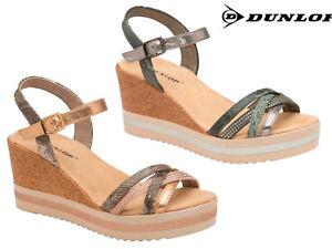 695d48464da4 Image is loading Ladies-Strappy-Wedge-Sandals-Platform-Heels -Fashion-Holiday-